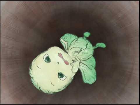芽キャベツは、いろんなことに興味深々。 でも、そのたびに大騒動を引き起こして・・・。 © Yoshitaka Amano / DML / N.Y.SALAD Partners.