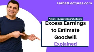 Excess Earnings to Estimate Goodwill | Advanced Accounting | CPA Exam FAR | Ch 1 P 3