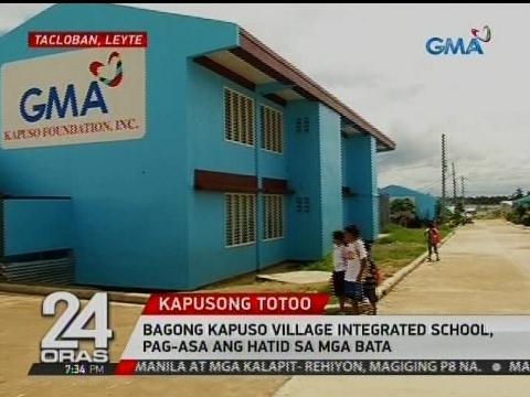 24 Oras: Bagong Kapuso Village Integrated School, pag-asa ang hatid sa mga bata