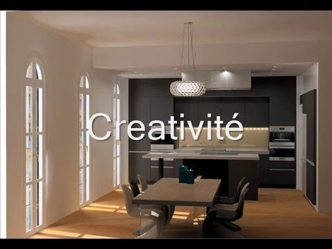 visuels cuisine interieur design youtube. Black Bedroom Furniture Sets. Home Design Ideas