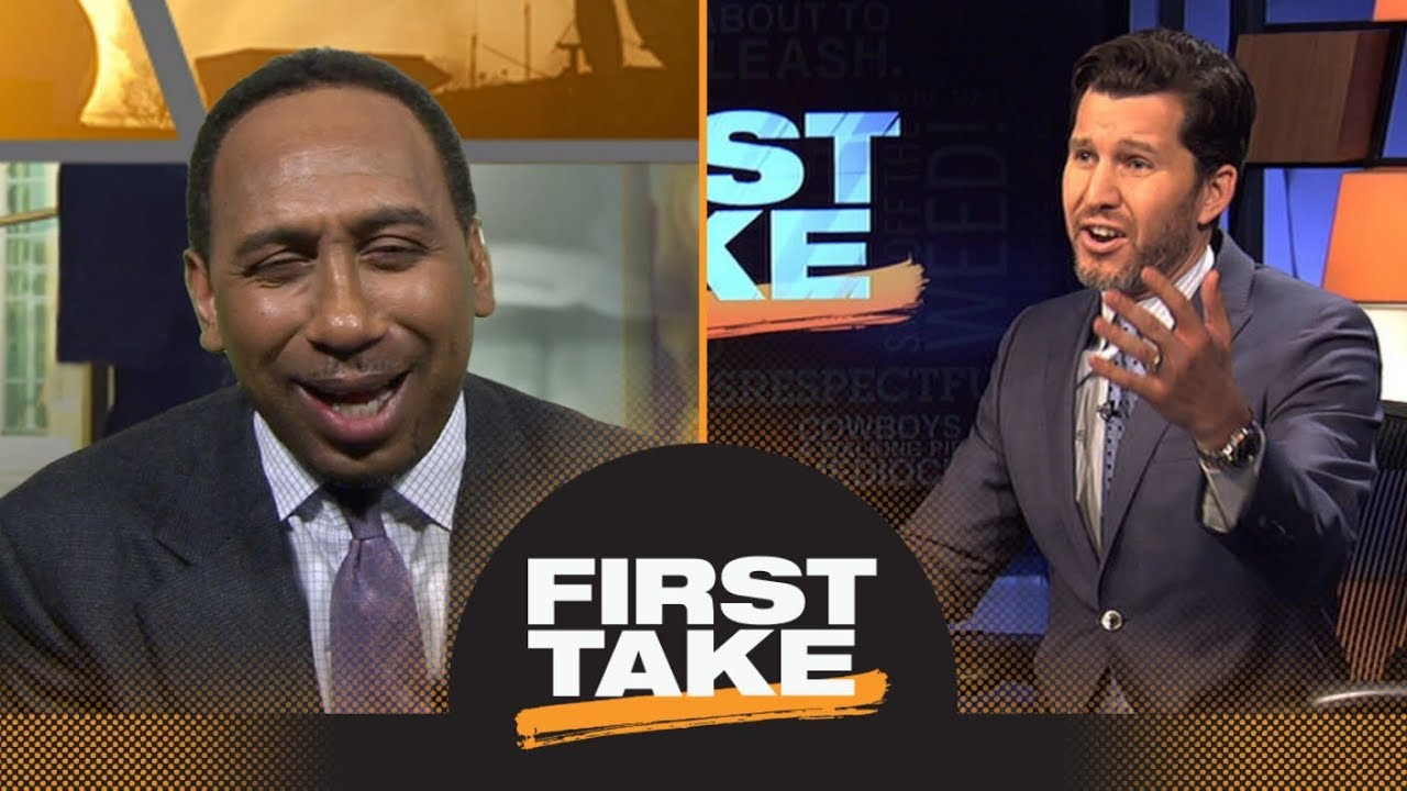 Stephen A Tries To Annoy Will Cain By Laughing Over Dez Bryant S Catch First Take Espn