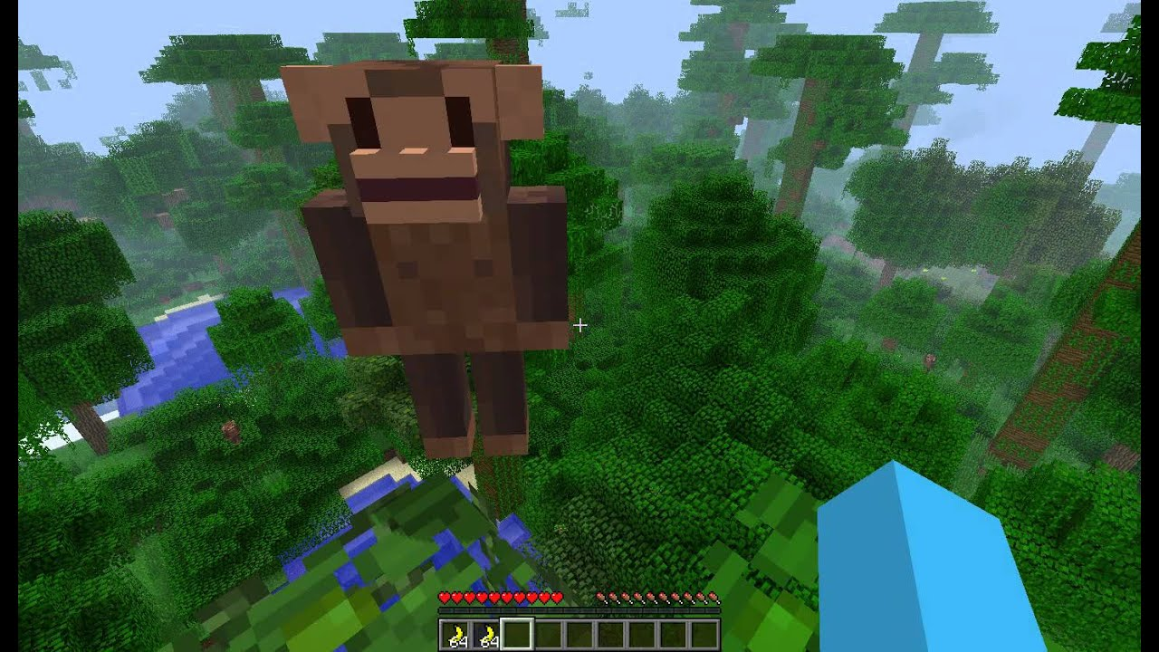 Minecraft Mod Showcase: The Monkey Mod ! - YouTube