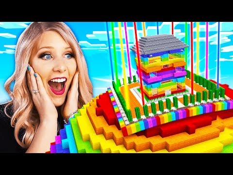 Never Break In To My Wife's Impossible Minecraft Rainbow House!