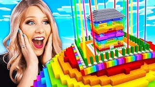 Never Break In To My Wife\'s Impossible Minecraft Rainbow House!