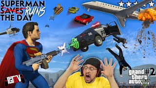 SUPERMAN RUINS THE DAY!  Car Launching Mod 4 GRAND THEFT AUTO 5! FGTEEV = No Friends