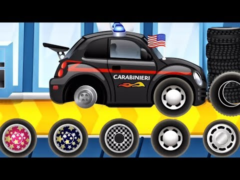 CAR WASH - Builds Car Factory Police Car | BEST iOS Apps for Children