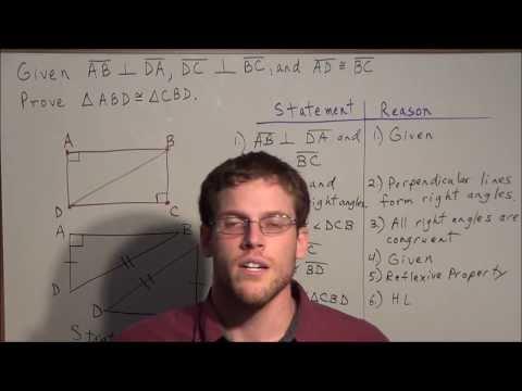 Triangle Proofs Hypotenuse Leg - Geometry