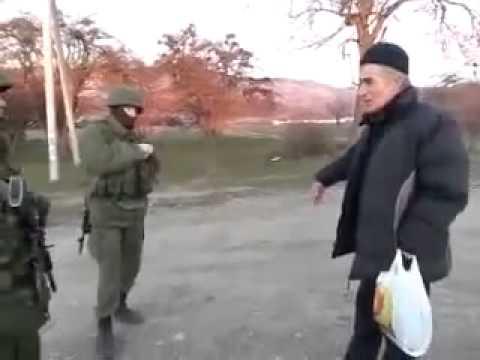 Разговор Крымского Татарина и военного из Росии