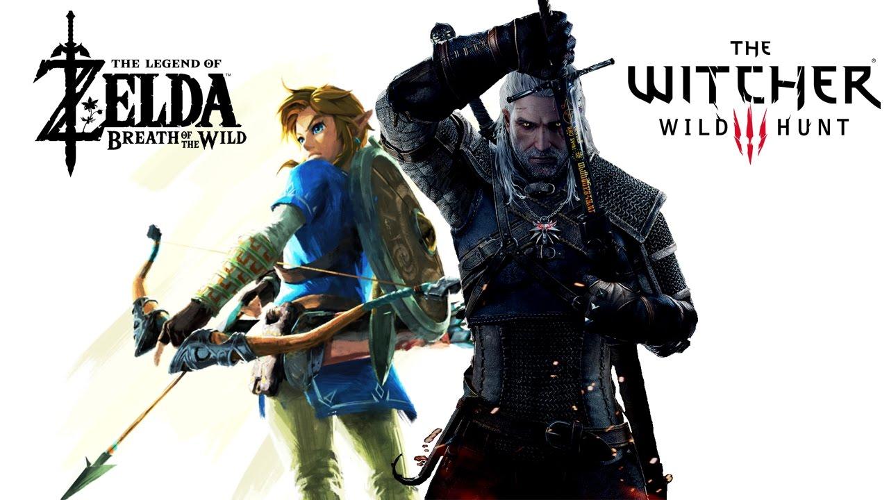 Zelda Breath of the Wild VS The Witcher 3 - YouTube