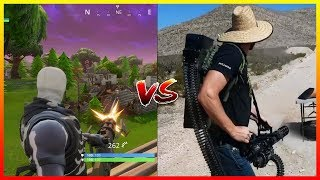 8 FORTNITE EPICHE ARMIES in REAL LIFE - Battle Royale