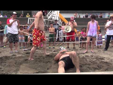 2015-07-19 信州プロレス 谷浜海水浴場マッチ午前の部
