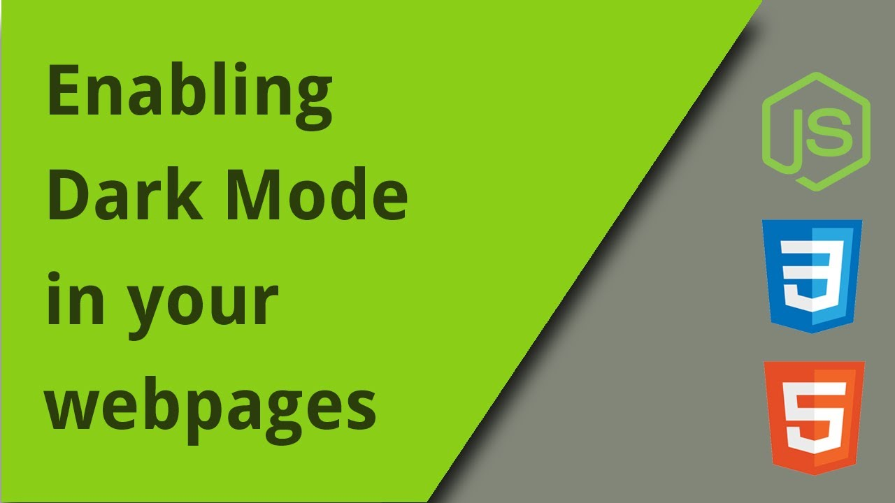 Applying Dark Mode in your webpages