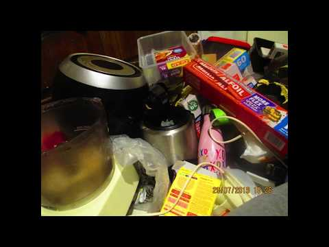 Cleaning And organizing kitchen cupboard