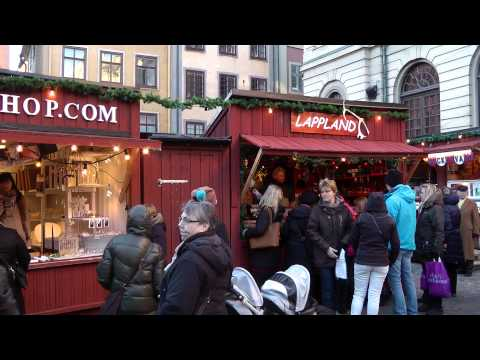 Christmas Market In The Old Town Of Stockholm