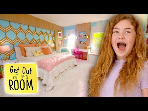 Fashionista Gets the Trendiest Bedroom Makeover | Get Out Of My Room | Universal Kids