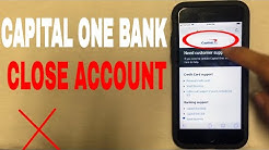✅  4 Ways To Close Capital One Bank Account ?