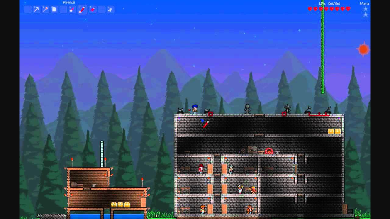 terraria 1 1 wiring and statues tutorial youtube rh youtube com Terraria Pressure Plates Terraria Switch