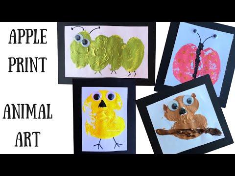 Art Projects for Kids: Apple Print Animal Art
