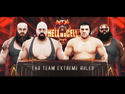 WWE-2K19-Big Show & Braun Strowman vs Mark Henry & The Great Khali-Hell In  A Cell 2019