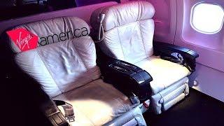 Virgin America FIRST CLASS San Francisco to Los Angeles|W/ATC