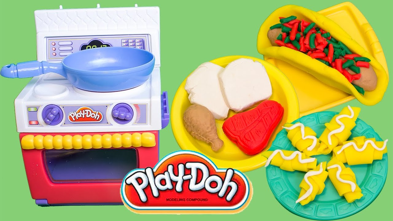 play doh meal makin 39 kitchen play dough food play doh oven hasbro toys review youtube. Black Bedroom Furniture Sets. Home Design Ideas