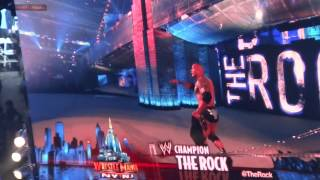John Cena and The Rock entrance Wrestlemania 29