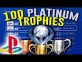 My INSANE Playstation Platinum Trophy Collection (100 Platinum's)