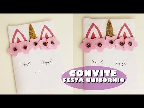 CONVITE FESTA UNICÓRNIO - FAÇA SUA FESTA | POR CAROL GOMES