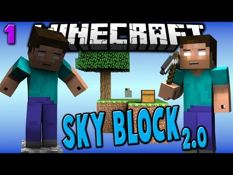 SKY BLOCK 2.0 #1 - NEW SET OF CHALLENGES - Minecraft w/ Taz