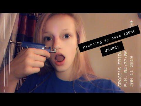 Piercing My Nose (GONE WRONG)|| Vlog
