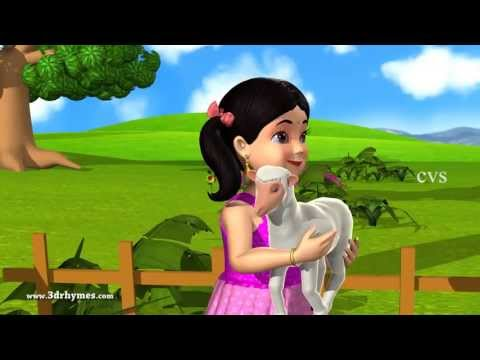 Mary had a little Lamb - 3D Animation English Nursery rhymes for children with lyrics