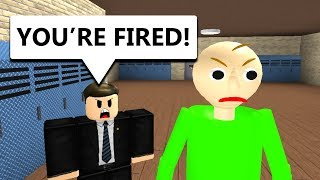 Baldi Gets Fired (Roblox Animation)