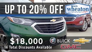 2018 Vehicle Discounts - SUV | Don Wheaton Chevrolet Buick GMC Cadillac