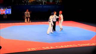 vuclip Men's Taekwondo -58kg Semi-finals - Philippines v Singapore | 28th Sea Games 2015