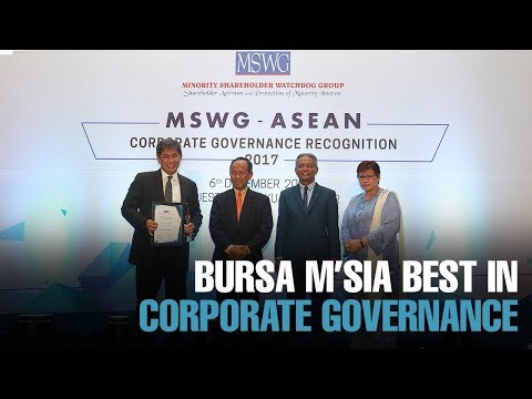 NEWS: Bursa is best in corporate governance
