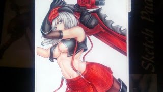 Drawing Alisa from God Eater