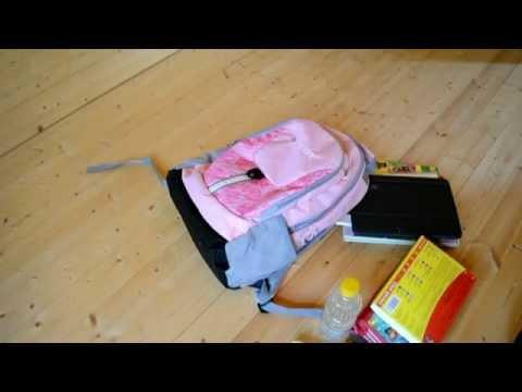 Школьный каркасный рюкзак для девочек Frozen розовый - YouTube