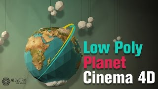 Speed art - Low Poly Planet | Cinema 4D  Parte 1