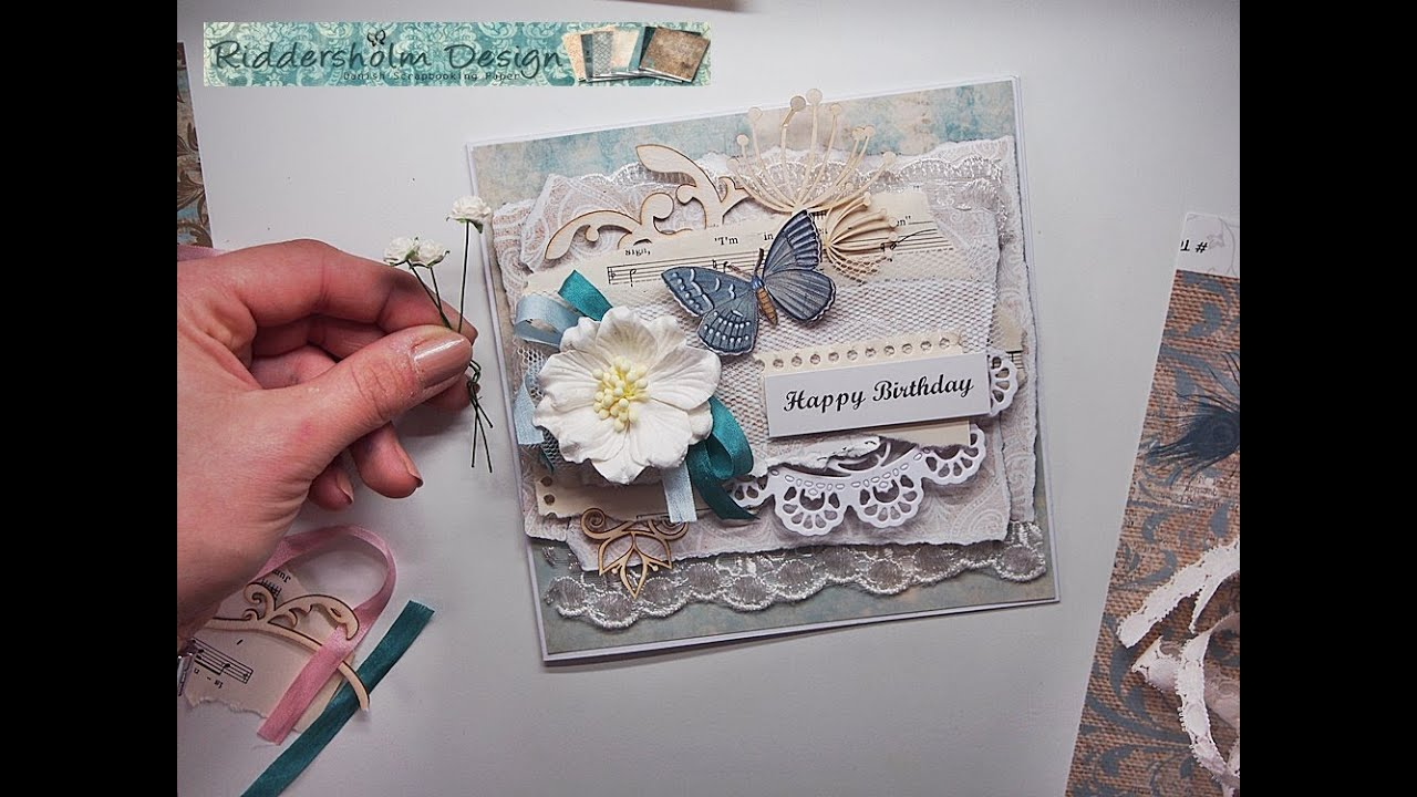 SHABBY CHIC Fast & Easy Card tutorial for Riddersholm