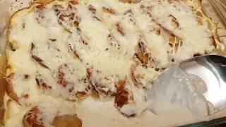Картошка в духовке со сливками и сыром