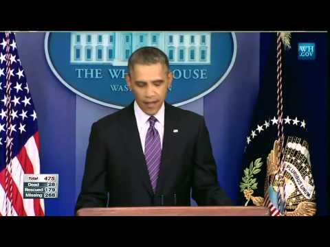 Obama sends condolences on Korea ferry disaster