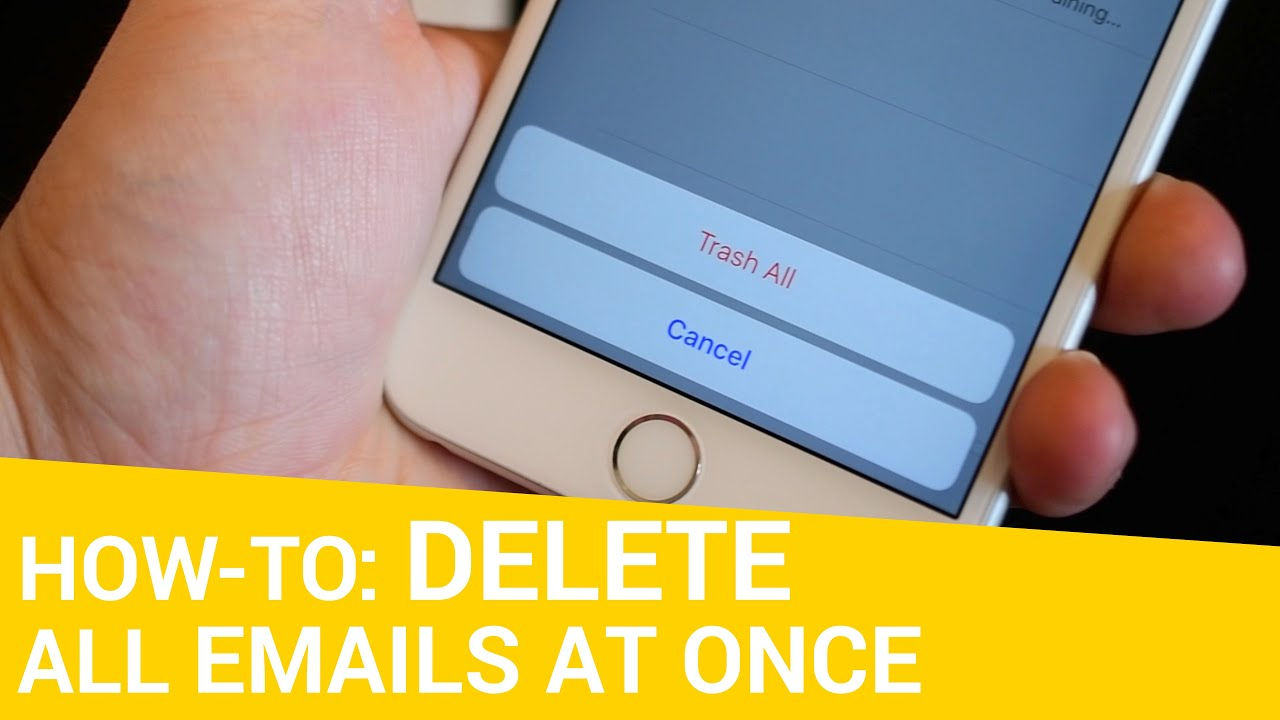 How To Delete Move Or Flag All Emails At Once YouTube