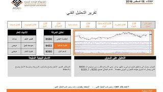 البورصة المصرية | شركة عربية اون لاين | التحليل الفني | 16-8-2016 | بورصة | الاسهم