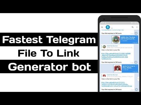 Fastest Telegram File To Link Generator Bot - YouTube