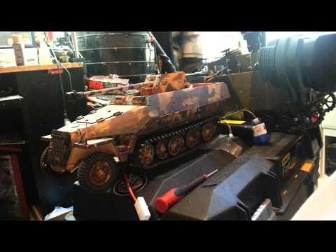 R/c Combat Half-track - Sd.Kfz. 251/22 - Clark TK-22 / Panzer IV Custom