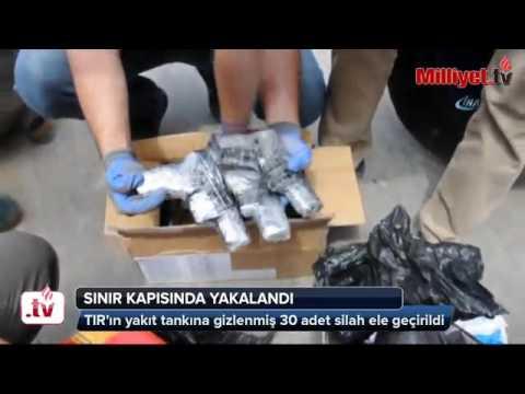Habur Sınır Kapısı'nda bir tırın yakıt tankına gizlenmiş silahlar ele geçti. Son Dakika Güncel Haber
