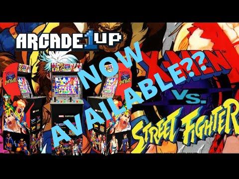 Arcade1up: X-Men vs Street Fighter now shipping? No riser? No word on Marvel vs Capcom yet! from PsykoGamer
