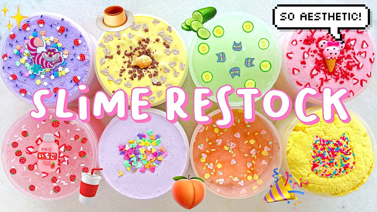 SLIME RESTOCK: CUTE & AESTHETIC SLIMES 💖 FLOATS, CLOUD, & HYBRID TEXTURES! July 25th