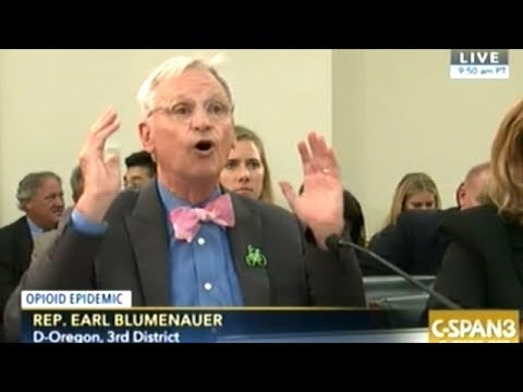 """Rep Blumenauer """"MEDICAL MARIJUANA!"""" IS THIS THING ON! CAN ANYONE HEAR ME?"""