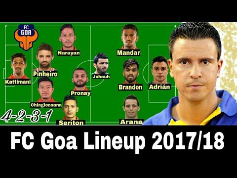 FC Goa Potential Lineup 2017/18 ISL Season